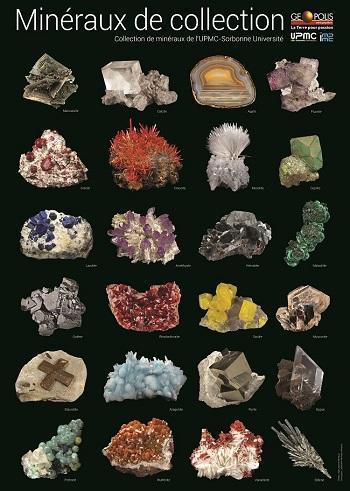 10 Posters - 24 minéraux de Collection