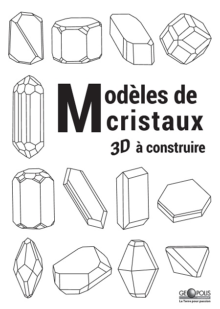 Livre : modèles de cristaux 3D à construire