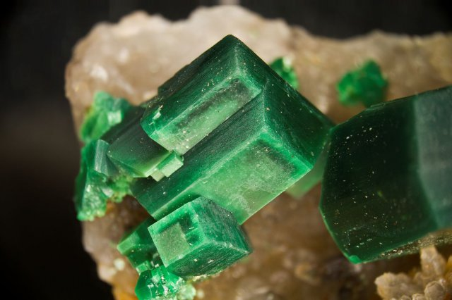 Torbernite (Margabal, Aveyron, France)